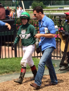 Cecily Evans shares her opinion of what happened in the race with the trainer. Jockeys provide valuable insight that can help the horse win the next time they run.