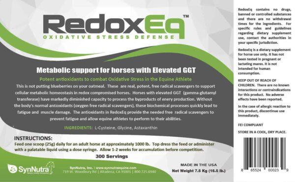 SynNutra RedoxEq Label
