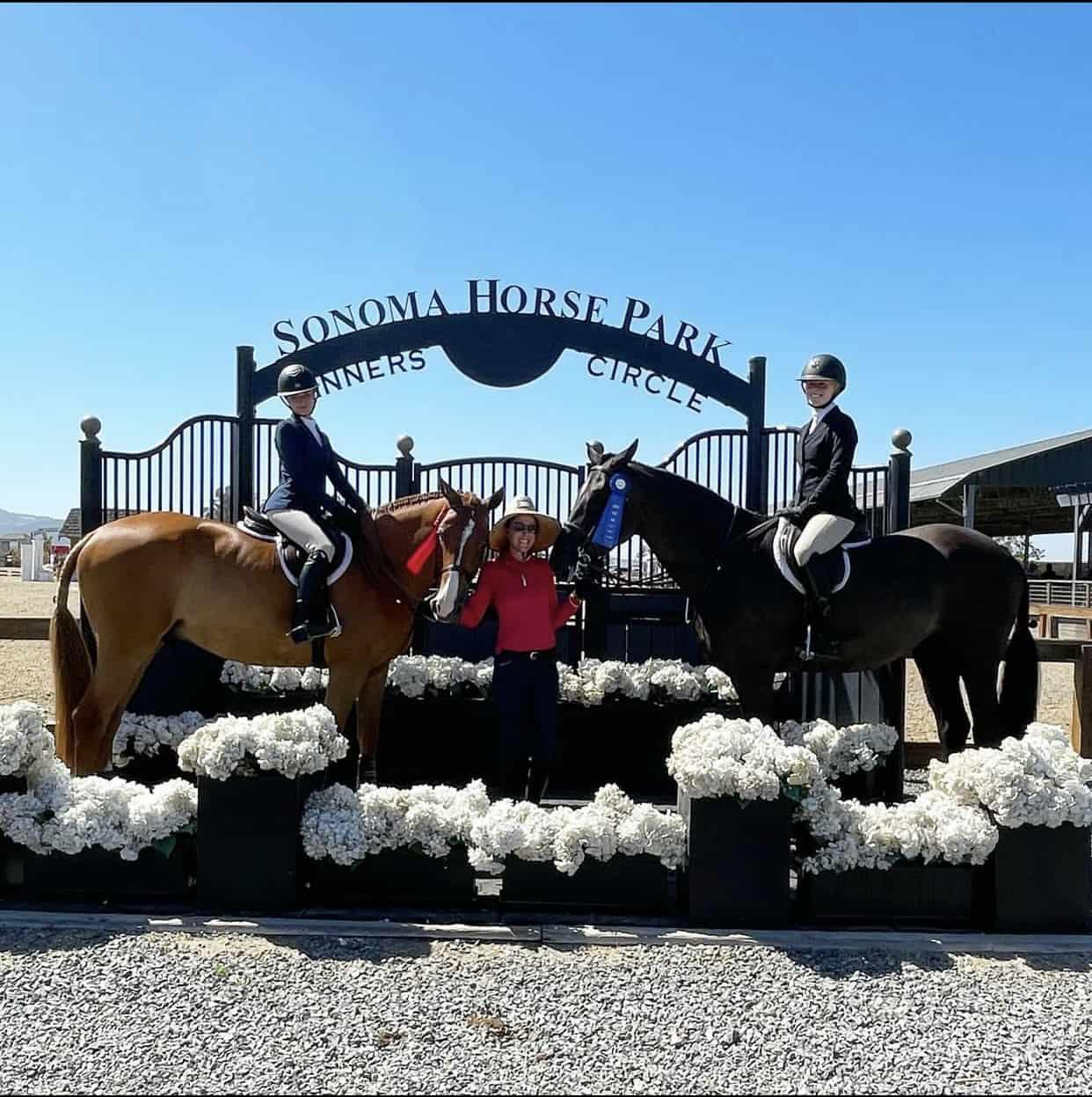 Blueridge Farm Riders in the Winner's Circle at Sonoma Horsepark